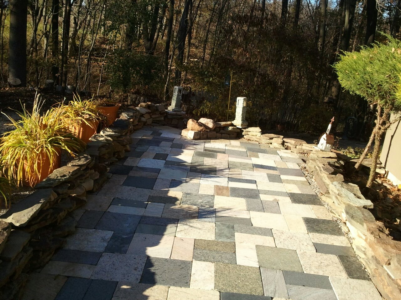 Bella Terra Natural Pavers Recycled Solid Granite Patio